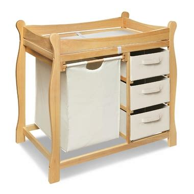 Badger Basket Sleigh Style Baby Changing Table With Her Badger Basket Baby Changing Table