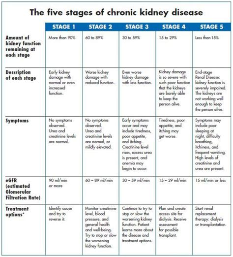 kidney failure stages stages of chronic kidney disease phosphate in chronic kidney disease