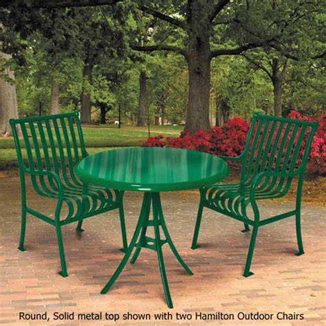 ultraplay hamilton outdoor round table solid metal top