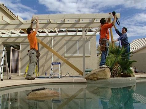 Adding A Patio Roof by Create Rafters For A Patio Roof How Tos Diy