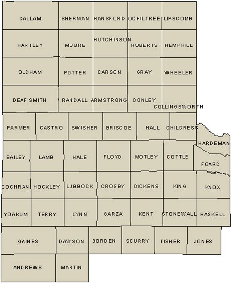 texas panhandle county map tpwd panhandle high plains wildlife district