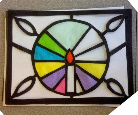 Paper Stained Glass Window Craft - 315 best class ideas images on