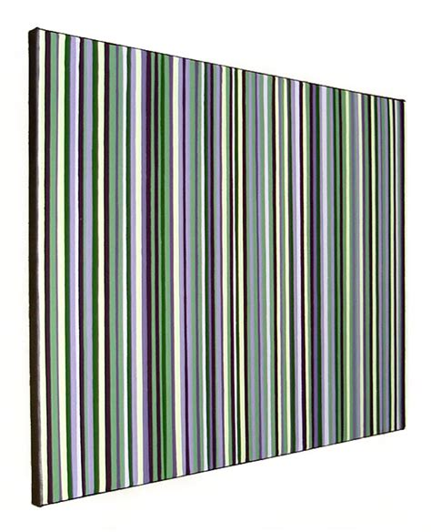 Prints For Home Decor Original Modern Stripes Decor Green And Purple Wall Art