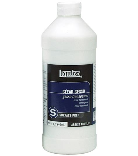 acrylic painting gesso liquitex acrylic clear gesso surface prep 32 ounces at