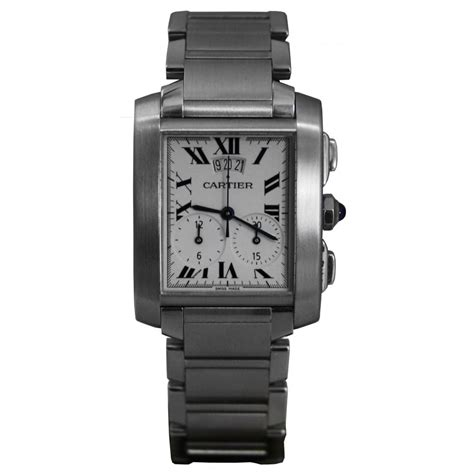 pre owned cartier s large size tank francais