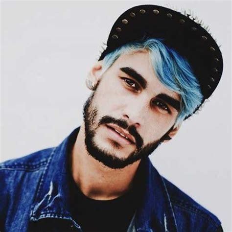 black mens hairstyles with tinted 15 guys with blue hair mens hairstyles 2018