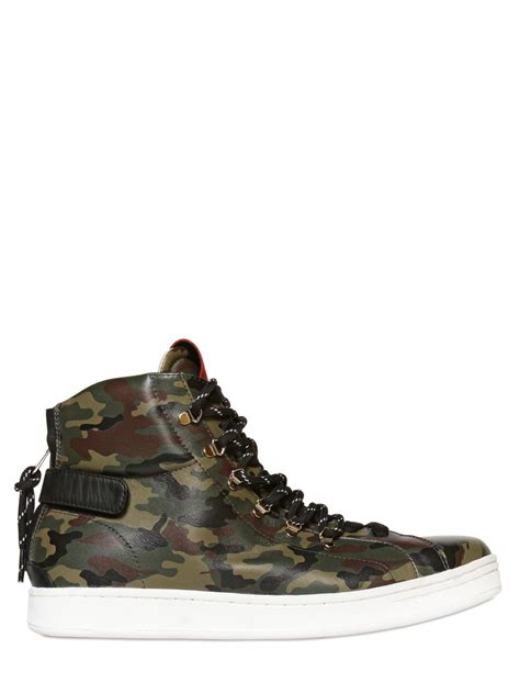 Sneakers Motif Army Gotrack Camo Green dolce gabbana camouflage leather high top sneakers in