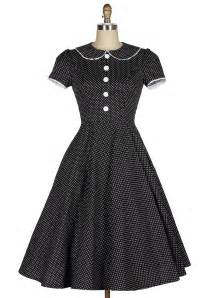 old soul darling polka dots 40s housewife dress reoria