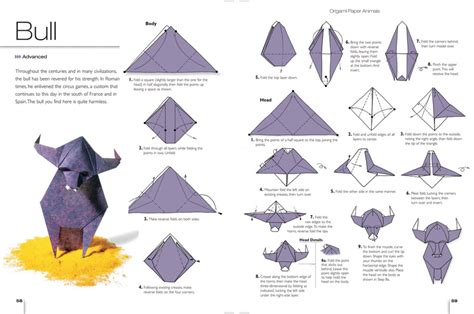 Origami Patterns Pdf - cool bull origami diagram 2016