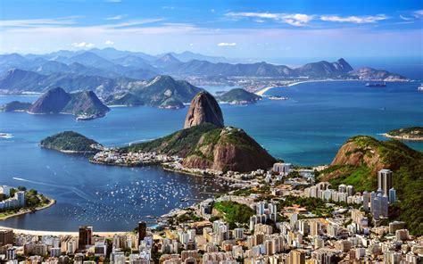 rio de zhaneiro brazil mountains sea city skyline hd