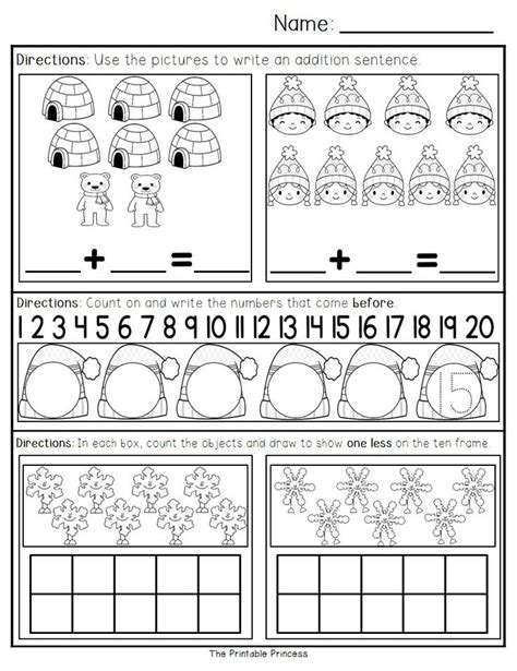kindergarten activities january january morning work for kindergarten morning work math
