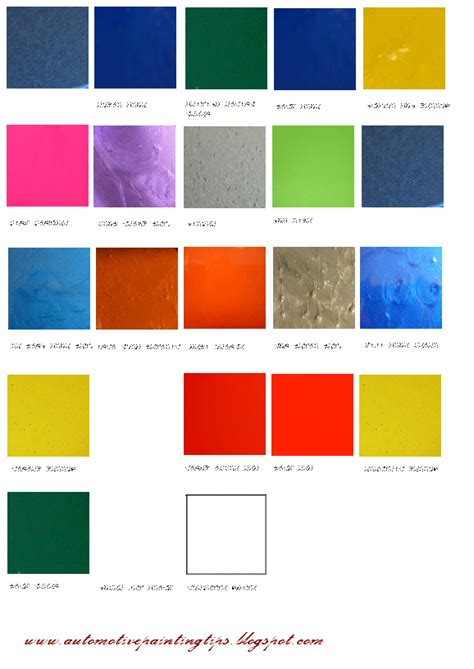 automotive paint color charts autos weblog