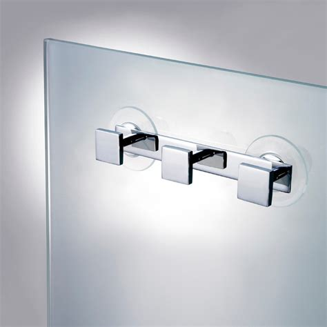 suction hooks for bathroom triple suction pad hook in chrome gold contemporary