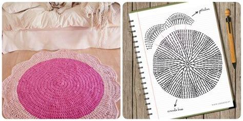 tappeto all uncinetto tappeto a uncinetto a forma di fiore schema per realizzarlo