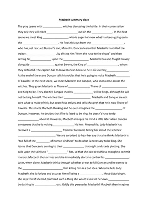 macbeth themes activity macbeth worksheet calleveryonedaveday