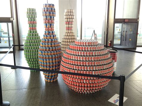 canstruction students design and build colossal canstruction 2016 all over albany