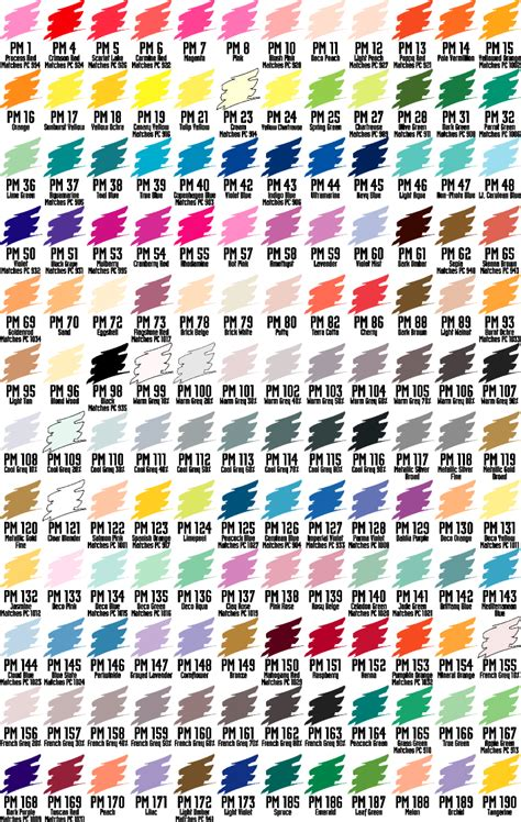 prismacolor marker color chart design markers color charts design2 marker