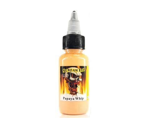 scream tattoo ink scream ink papaya whip scream ink new formula