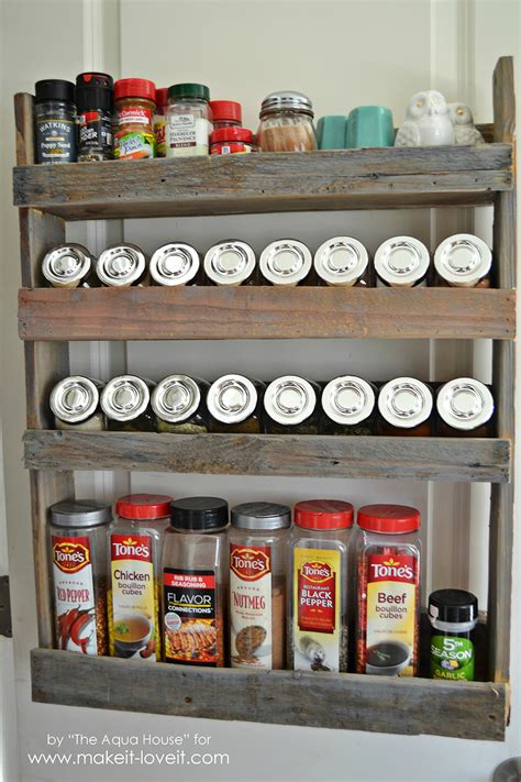 diy spice rack from wood pallet diy pallet spice rack make it and it