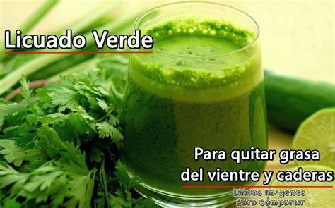 imágenes de jugos verdes licuado verde quema grasa buena receta
