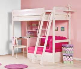Bunk bed with desk underneath and stairs for girls home interiors