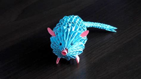 Origami 3d Tutorial - 3d origami rat mouse assembly diagram tutorial