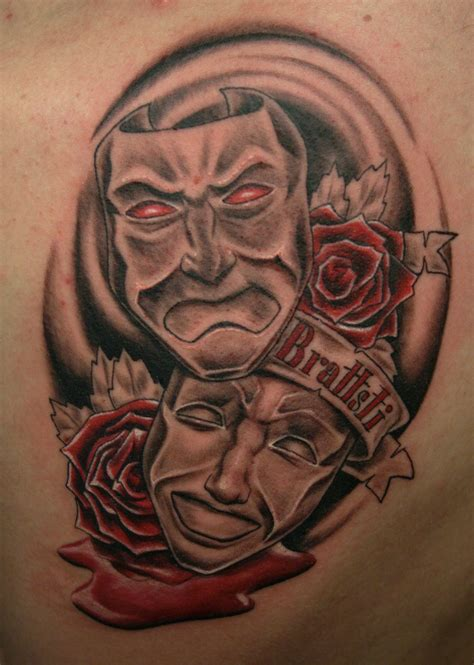 theatre tattoo designs theatrical mask pictures to pin on