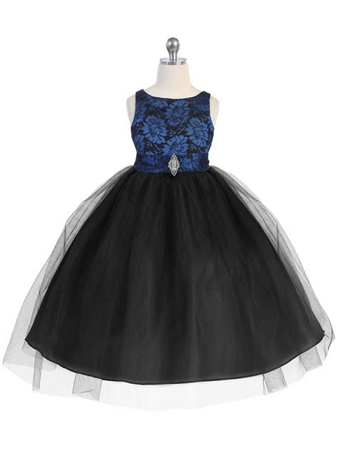 royal blue black lace bodice tulle w overlay skirt