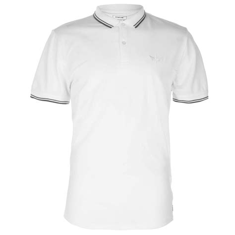 polo shirt firetrap firetrap lazer slim fit polo shirt mens polo
