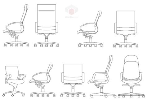 Office Chairs Dwg 24 Innovative Office Furniture Dwg Yvotube