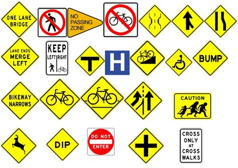printable nc dmv road signs image gallery roadway signs