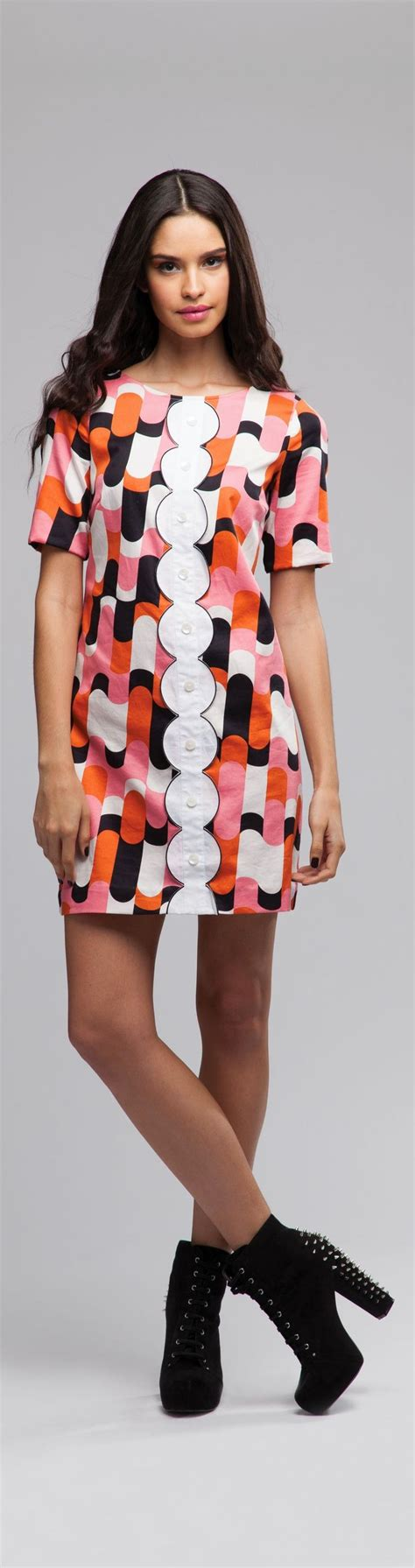 Get Mod Chic To Rival The 60s Pin Ups by 60s Fashion Style 1964 Mod Dresses Go Go Boots Quant