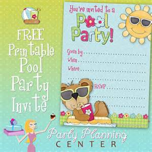 planning center free pool invite template