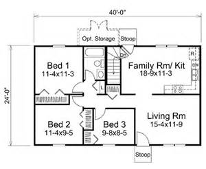 3 Feet Plan by Ranch Style House Plan 3 Beds 1 Baths 960 Sq Ft Plan 57 465