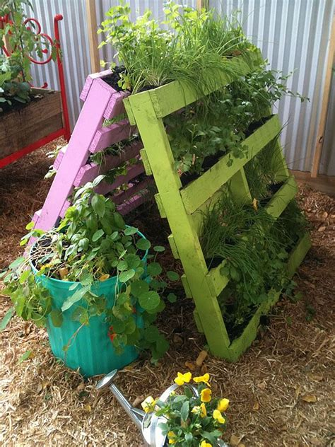 Garden Recycle Ideas Vertical Herb Pallet Garden Idea Clever A Frame Design Makes The Most Of Free Pallets As A