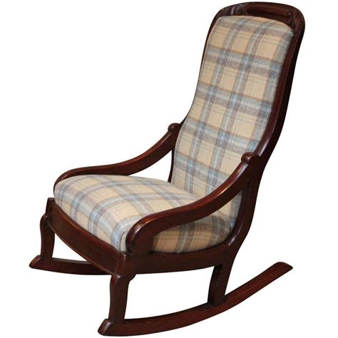 Late victorian upholstered rocking chair at 1stdibs