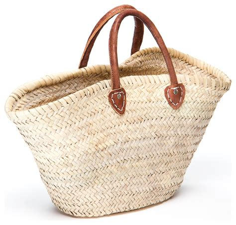 French market basket short handle mediterranean baskets by indigo amp lavender