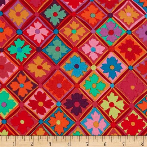 Kaffe Fassett Upholstery Fabric by Kaffe Fassett Antwerp Flowers Discount Designer Fabric