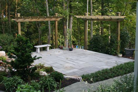 Natural Stone Patio Cantiliever Arbors Garden Ridge Wall