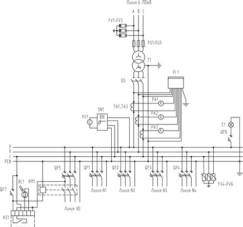 schematic circuit diagram for pole mounted package