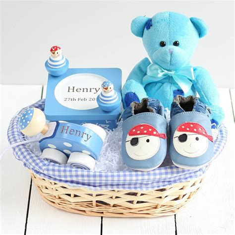 Ideal Gifts For Baby Shower by Pirate Ahoy Baby Gift Basket By Snuggle
