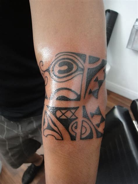 tribal tattoos elbow tattoos