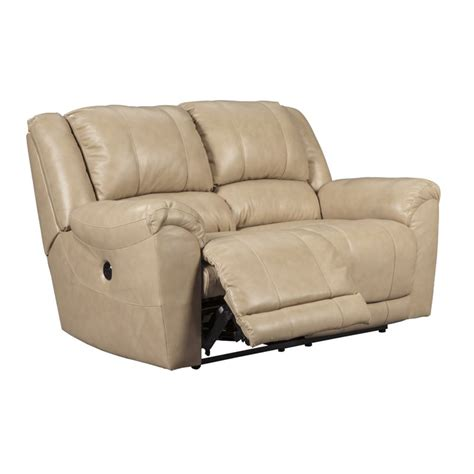 ashley leather loveseat recliner ashley yancy reclining leather loveseat in galaxy 2920286