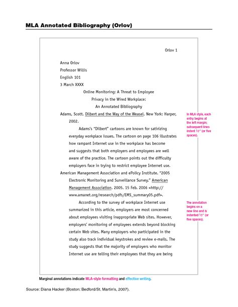 Mla Annotated Bibliography Template best photos of proper mla annotated bibliography
