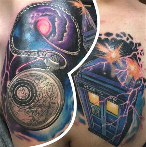dr who tardis and pocket watch by matthew davidson
