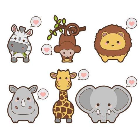 imagenes de leones kawaii kawaii safari animals vectors free vectors ui download