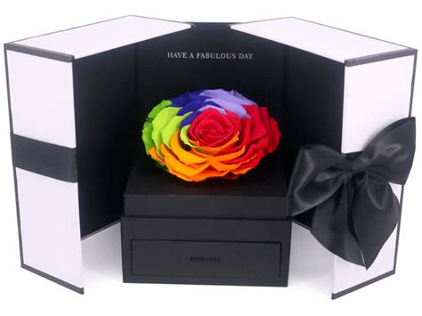 Bloom Box Big Rainbow Mesmerizing Preserved Flower preserved forever flower preserved dried flower box m69 px0330a4 give gift boutique