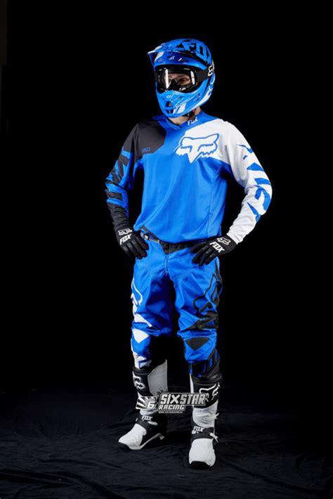 yamaha motocross gear 2015 fox 180 race blue yamaha jersey pant motocross gear