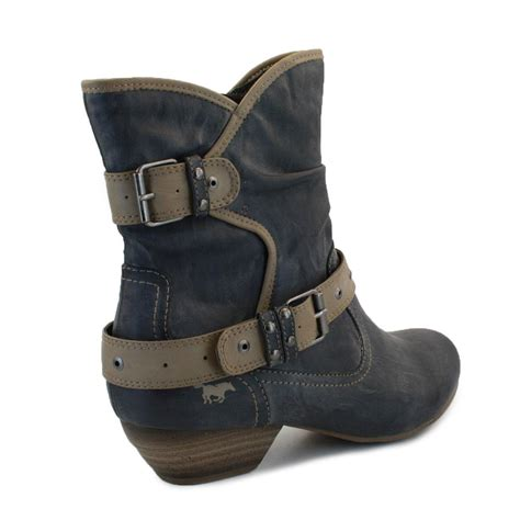 mustang 1091 503 824 womens buckle zip synthetic leather