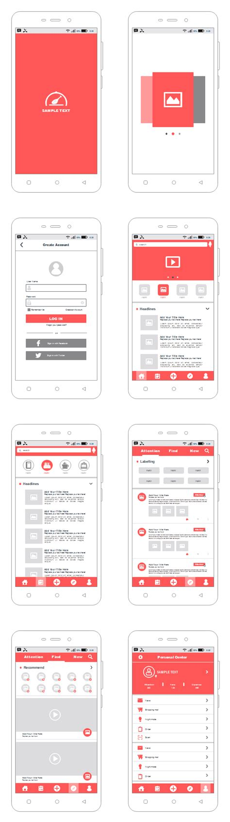 iphone app wireframe template android app wireframe free android app wireframe templates